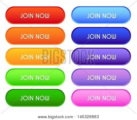 Collection Of 'join Now' Buttons