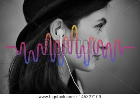 Audio Music Wave Frequency Concept