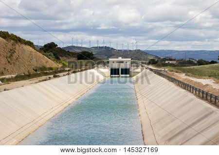 Irrigation canal for watering nearby farm land