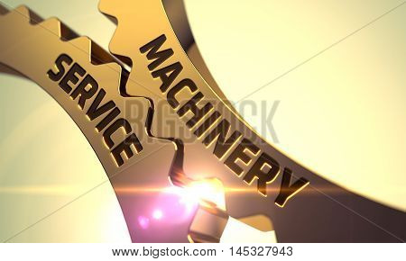 Machinery Service - Illustration with Glow Effect and Lens Flare. 3D.
