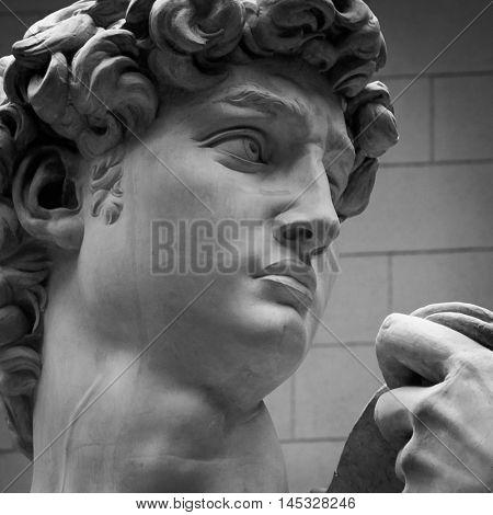 Michelangelo's replica David statue
