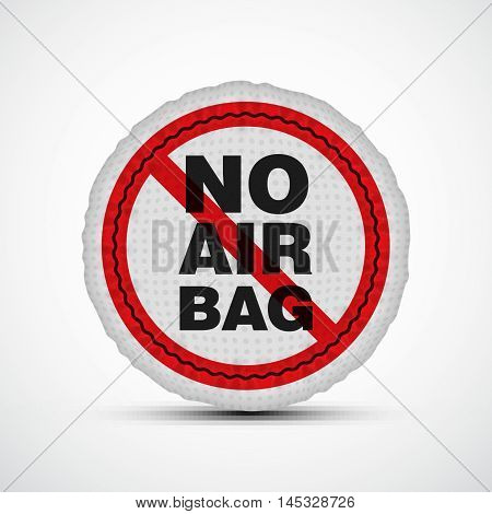 No airbag vector illustration. Isolated car safety cushion.