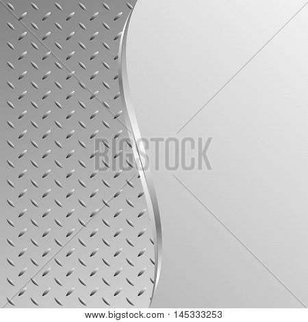 iron background divided into two - vector illustration