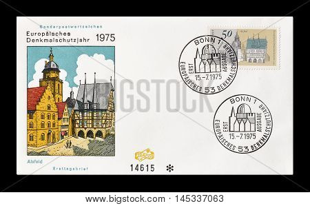 GERMANY - CIRCA 1975 : Cancelled First Day Cover letter printed by Germany, that shows children Alsfeld.