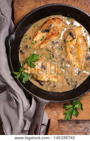 chicken breast with mushroom sauce