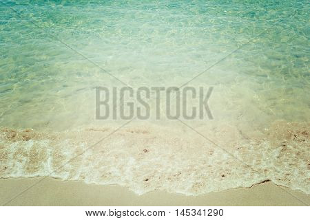 a beach foreshore in a vintage tone
