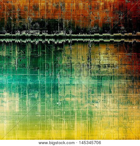 Cute colorful grunge texture or tinted vintage background with different color patterns: yellow (beige); brown; green; blue; red (orange); black