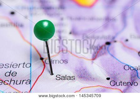 Salas pinned on a map of Peru