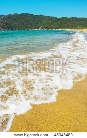 Porto Ferro beach under a clear sky Sardinia