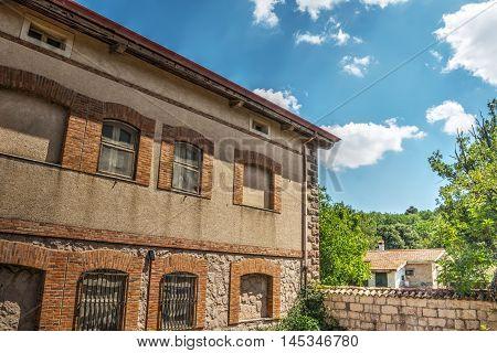 old building in Burgos forest in Sardinia