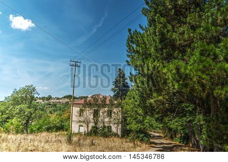 an old house in Burgos forest Italy