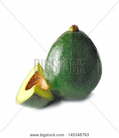 Avocado cooking isolated on white background .
