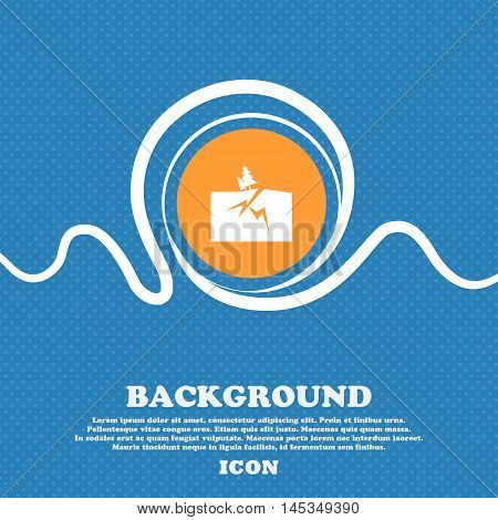Property Insurance Icon Sign. Blue And White Abstract Background Flecked With Space For Text And You