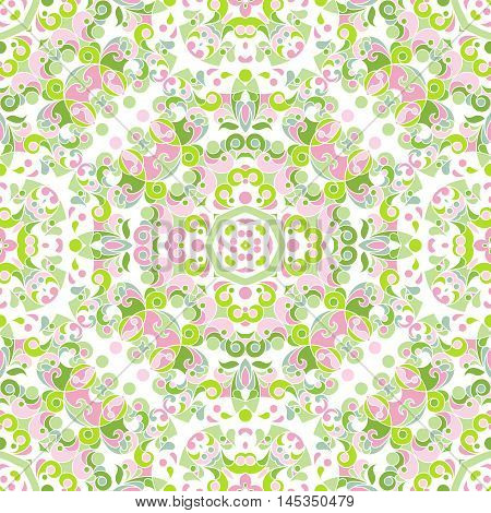 Vector Seamless Pattern With Eastern Style.