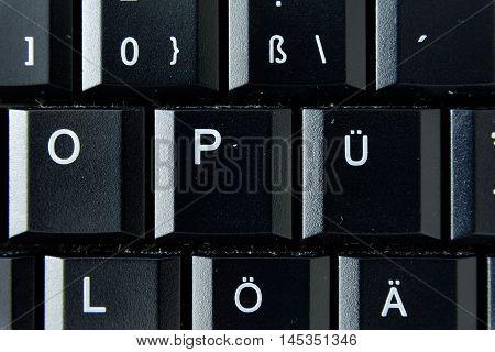 Ue German Keyboard Button White Black Macro