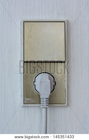 Vertical Connected European Outlet Light Switch Wall Texture Background