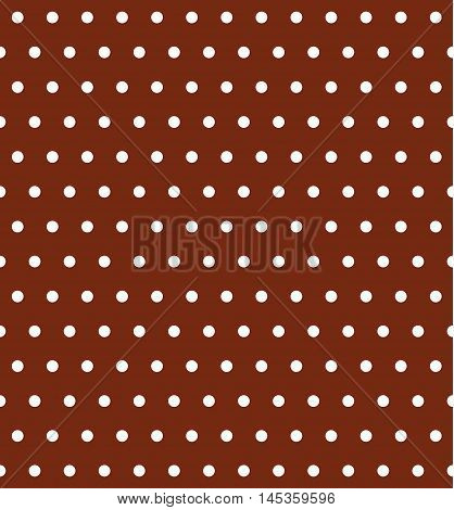 Brown Seamless Pattern with Polka Dots. Vector illustration vintage and retro theme. Traditional texture.
