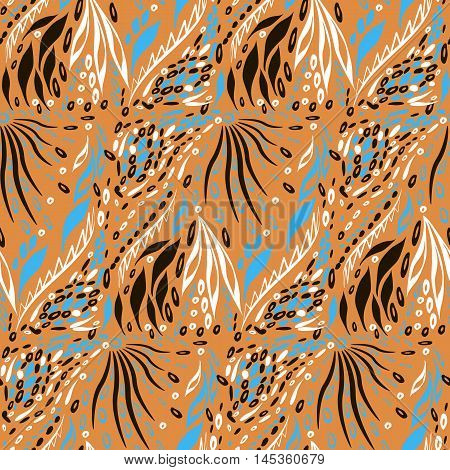 Seamles pattern. Vector flat background. Ethnic style. Seamless pattern can be used for wallpaper pattern fills web page backgroundsurface textures. seamless background. Abstract geometric ornament...
