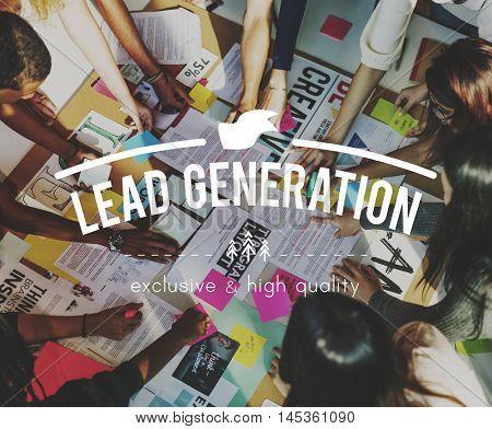 Lead Generation Business Consumer Economics Concept
