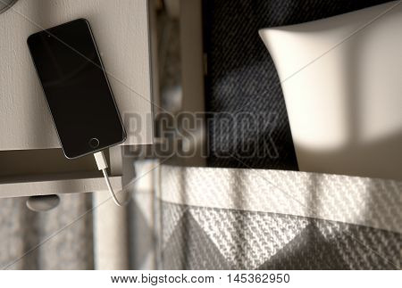 Cellphone Next To The Bed