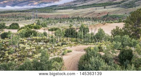 off road trails in North Sand Hills, only place in Colorado to legally ride on sand dunes