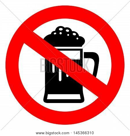 Do not drink beer sign vector illustration isolated on white background