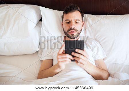 Reading A Book In An E-reader