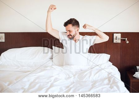 Man Waking Up In The Morning