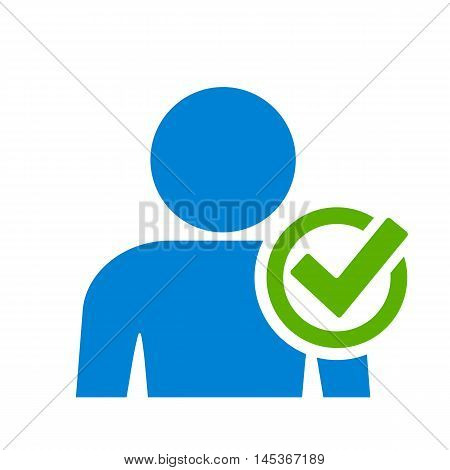 User accepted icon vector illustration isolated on white background