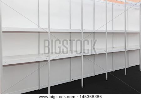 Empty Shelves and Aisles in Supermarket Grocery Store