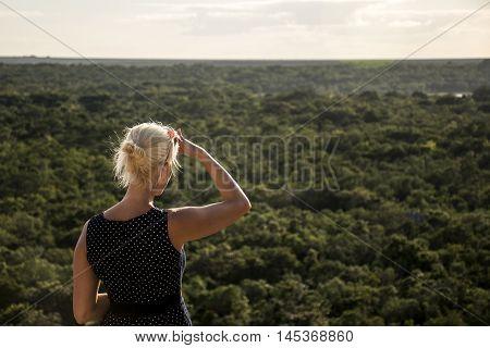 Coba Maya Ruins in Mexico Yucatan look inside the jungle 2