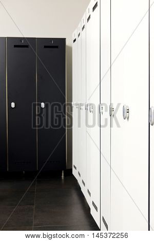 Interior of a modern cloakroom