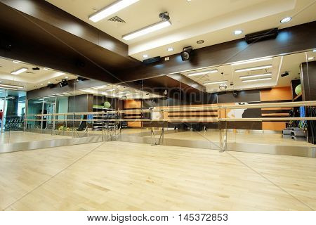 Interior of an empty dance hall