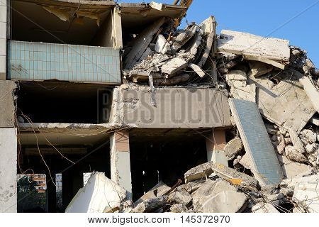 Demolition of the residential building