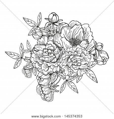 Peony Floral Bouquet