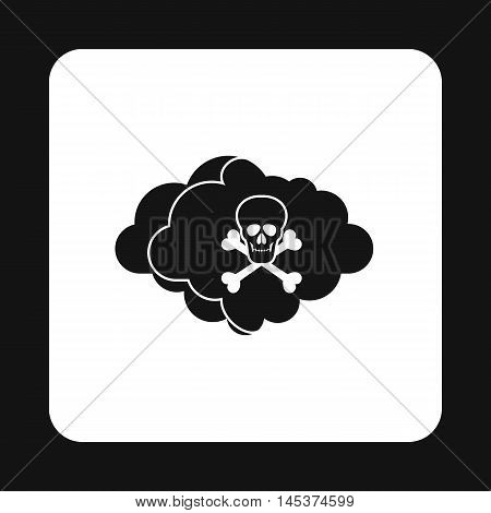 Deadly air icon in simple style isolated on white background. Danger symbol
