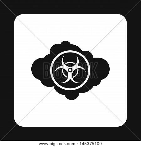 Radioactive cloud icon in simple style isolated on white background. Danger symbol