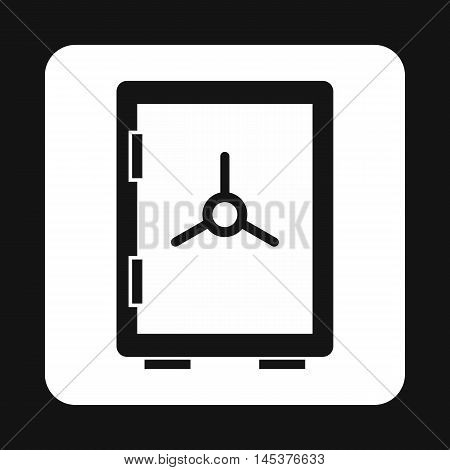 Safety deposit box icon in simple style isolated on white background. Security symbol