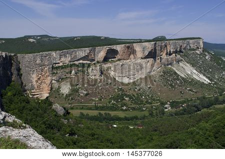 Canyon View Kacha the view from the mountain Ukraine Crimea