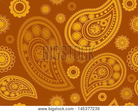 Seamless pattern in gold and yellow colors perfect for gift papers and fabrics
