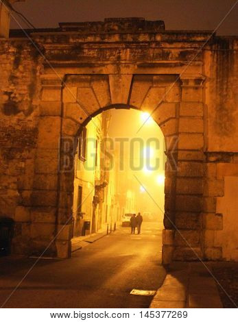 Old Street In Verona, Italy