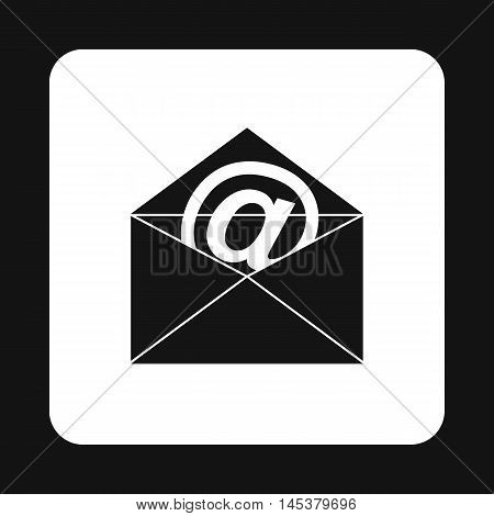E-mail icon in simple style isolated on white background. Message symbol