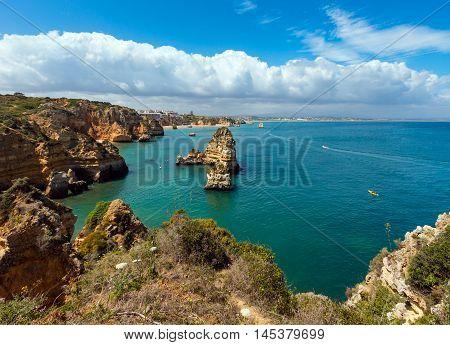 Lagos Town Summer Coastline (algarve, Portugal).