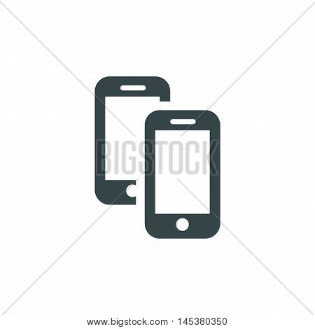 Device Mobile Icons: smart phone. Vector illustration of responsive web design.