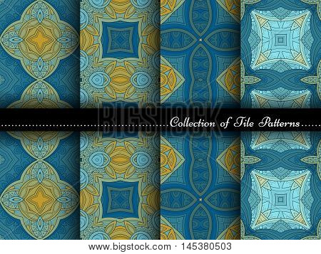 Vector Collection Of Seamless Vintage Patterns
