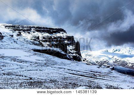 mountain landscape, plateau, winter, snow, wild nature