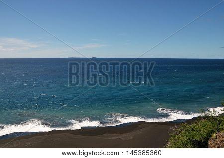 Ledge Over Beach