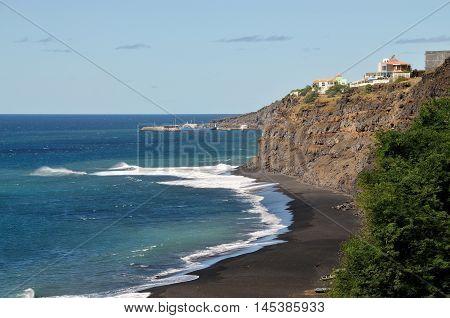 Waves Crash Bellow The High Cliffs