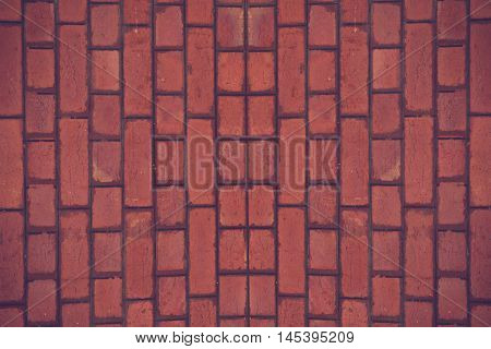 Red brick wall seamless Vector illustration background - texture pattern for continuous replicate.Vintage color