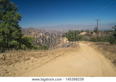 Winding Dirt Mountain Road